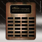The Jessup Walnut Perpetual Plaque Round Corner  24 Black Plates Sponsor - Memorial - Donor Plaques
