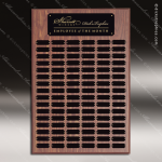 The Johnstone Laminated Walnut Perpetual Plaque 102 Black Plates Sponsor - Memorial - Donor Plaques