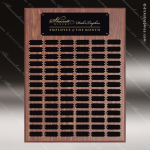 The Johnstone Laminated Walnut Perpetual Plaque  84 Black Plates Sponsor - Memorial - Donor Plaques