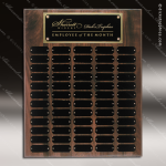 The Jessen Walnut Perpetual Plaque Step Edge 102 Black Plates Sponsor - Memorial - Donor Plaques