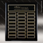 The Maberry Black Piano Finish Perpetual Plaque  24 Black Plates Sponsor - Memorial - Donor Plaques