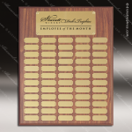 The Morvilla Laminate Walnut Perpetual Plaque  60 Gold Plates Sponsor - Memorial - Donor Plaques