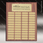The Morvilla Laminate Walnut Perpetual Plaque  48 Gold Plates Sponsor - Memorial - Donor Plaques