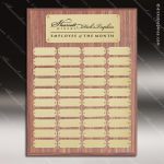 The Morvilla Laminate Walnut Perpetual Plaque  40 Gold Plates Sponsor - Memorial - Donor Plaques