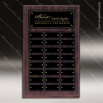 The Mujalli Laminate Cherry Perpetual Plaque  24 Black Border Plates Sponsor - Memorial - Donor Plaques