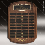 The Racano Walnut Perpetual Arch Plaque  36 Black Plate Sponsor - Memorial - Donor Plaques