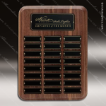 The Raeder Walnut Perpetual Plaque  24 Black Plate Sponsor - Memorial - Donor Plaques