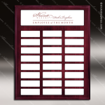 The Mottillo Mahogany Perpetual Plaque  24 Color Magnet Plates Sponsor - Memorial - Donor Plaques