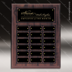 The Mujalli Laminate Cherry Perpetual Plaque  18 Black Border Plates Sponsor - Memorial - Donor Plaques