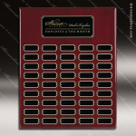 The Jagger Rosewood Perpetual Plaque  45 Black Plates Sponsor - Memorial - Donor Plaques