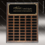 The Jessen Walnut Perpetual Plaque Step Edge  45 Black Plates Sponsor - Memorial - Donor Plaques