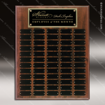 The Jahoda Laminated Cherry Perpetual Plaque  60 Black Plates Sponsor - Memorial - Donor Plaques