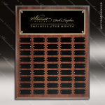 The Jahoda Laminated Cherry Perpetual Plaque  45 Black Plates Sponsor - Memorial - Donor Plaques