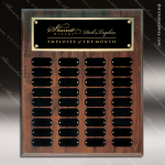 The Jahoda Laminated Cherry Perpetual Plaque  36 Black Plates Sponsor - Memorial - Donor Plaques