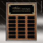 The Jessen Walnut Perpetual Plaque Step Edge  18 Black Plates Sponsor - Memorial - Donor Plaques