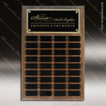 The Jessen Walnut Perpetual Plaque Step Edge  36 Black Plates Sponsor - Memorial - Donor Plaques