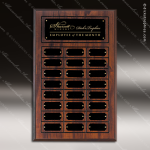 The Jahnsen Laminated Cherry Perpetual Plaque  24 Black Border Plates Sponsor - Memorial - Donor Plaques
