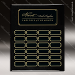 The Jacques Black Piano Finish Perpetual Plaque  24 Black Plates Sponsor - Memorial - Donor Plaques
