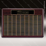 The Tagmillo Rosewood Perpetual Plaque 144 Black Plates Sponsor - Memorial - Donor Plaques