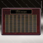The Tagmillo Rosewood Perpetual Plaque 120 Black Plates Sponsor - Memorial - Donor Plaques