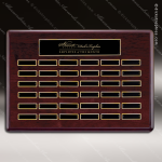 The Tagmillo Rosewood Perpetual Plaque  36 Black Plates Sponsor - Memorial - Donor Plaques