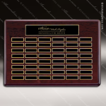 The Tagmillo Rosewood Perpetual Plaque  48 Black Plates Sponsor - Memorial - Donor Plaques
