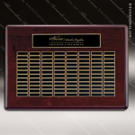 The Tagmillo Rosewood Perpetual Plaque  96 Black Plates Sponsor - Memorial - Donor Plaques