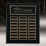 The Takadina Black Piano Finish Perpetual Plaque  24 Black Plates Sponsor - Memorial - Donor Plaques