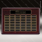 The Tagmillo Rosewood Perpetual Plaque  60 Black Plates Sponsor - Memorial - Donor Plaques