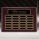 The Tagmillo Rosewood Perpetual Plaque  24 Black Plates Sponsor - Memorial - Donor Plaques