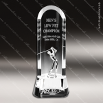 Crystal Sport  Half Moon Golfer Trophy Award Sport Crystal Awards