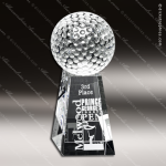 Crystal Clear Tapered Golf Trophy Award Sport Crystal Awards