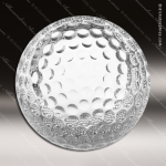 Typel Golf Glass Golf Ball Trophy Award Sport Crystal Awards