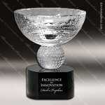 Crystal Sport Black Accented Golf Trophy Cup Trophy Award Sport Crystal Awards