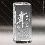 Crystal  Sport Soccer Trophy Award Sport Crystal Awards