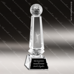 Crystal  Sport Golf Ball Obelisk Trophy Award Sport Crystal Awards