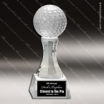 Crystal  Sport Golf Ball Trophy Award Sport Crystal Awards