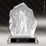 Crystal  Sport Golf Swing Trophy Award Sport Crystal Awards