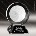 Crystal Sport Golf Glow Circle Trophy Award Sport Crystal Awards