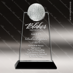 Crystal Sport Black Accented Golf Tablet Trophy Award Sport Crystal Awards