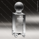 Crystal  Sport Golf Ball Cube Trophy Award Sport Crystal Awards