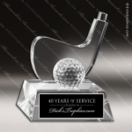 Crystal Sport  Greensboro Golf Trophy Award Sport Crystal Awards