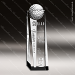 Crystal Sport Golf Ball Tower Trophy Award Sport Crystal Awards