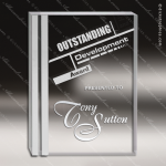 Acrylic  Clear Rectangle Silver Edge Trophy Award Square Rectangle Acrylic Awards