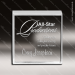 Acrylic  Clear Beveled Square Paperweight Award Square Rectangle Acrylic Awards