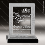 Acrylic Black Accented Carved Rectangle Impress Trophy Award Square Rectangle Acrylic Awards