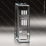 Crystal  Apex Rectangle Trophy Award Square Rectangle Shaped Crystal Awards
