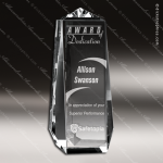 Crystal  Clear Endurance Rectangle Trophy Award Square Rectangle Shaped Crystal Awards