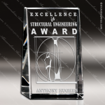 Crystal  Clear Distinction Rectangle Trophy Award Square Rectangle Shaped Crystal Awards