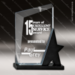 Crystal Black Accented Rectangle Ionia Star Trophy Award Square Rectangle Shaped Crystal Awards